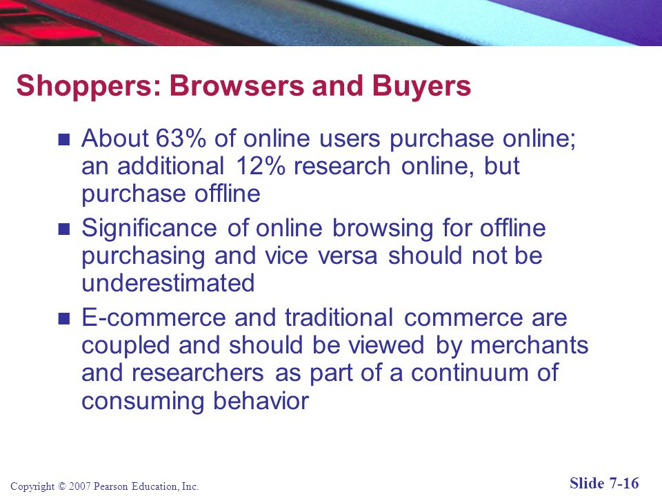 Shoppers: Browsers and Buyers