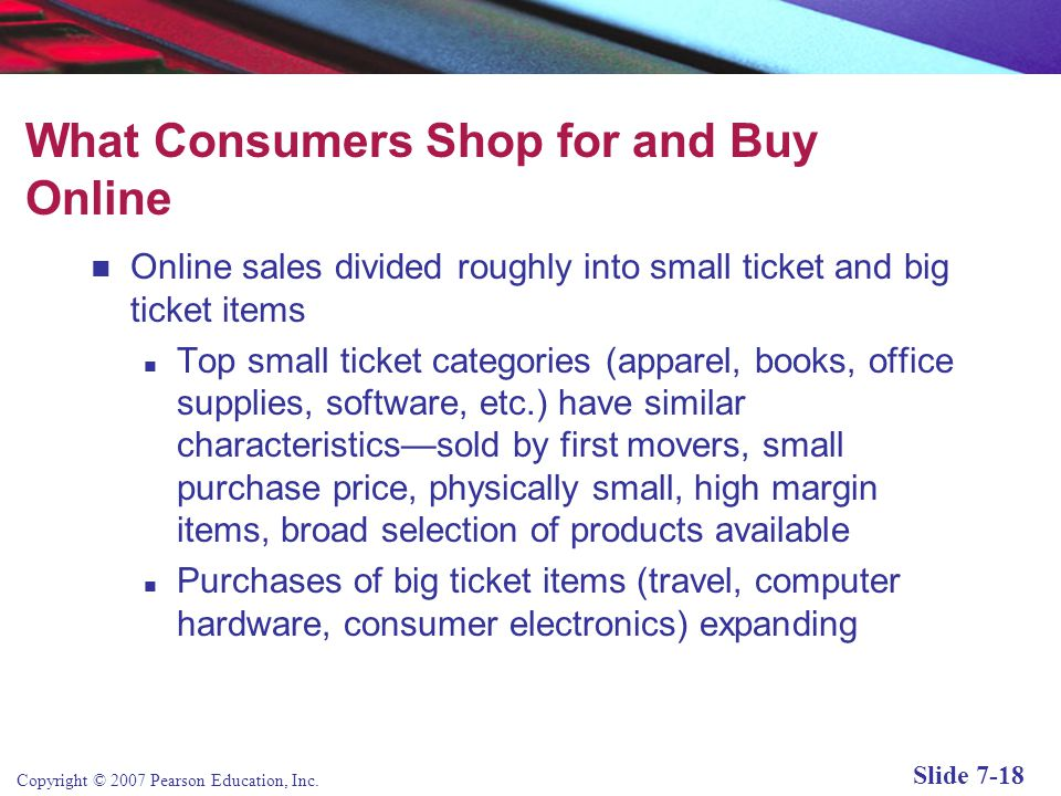 What Consumers Shop for and Buy Online