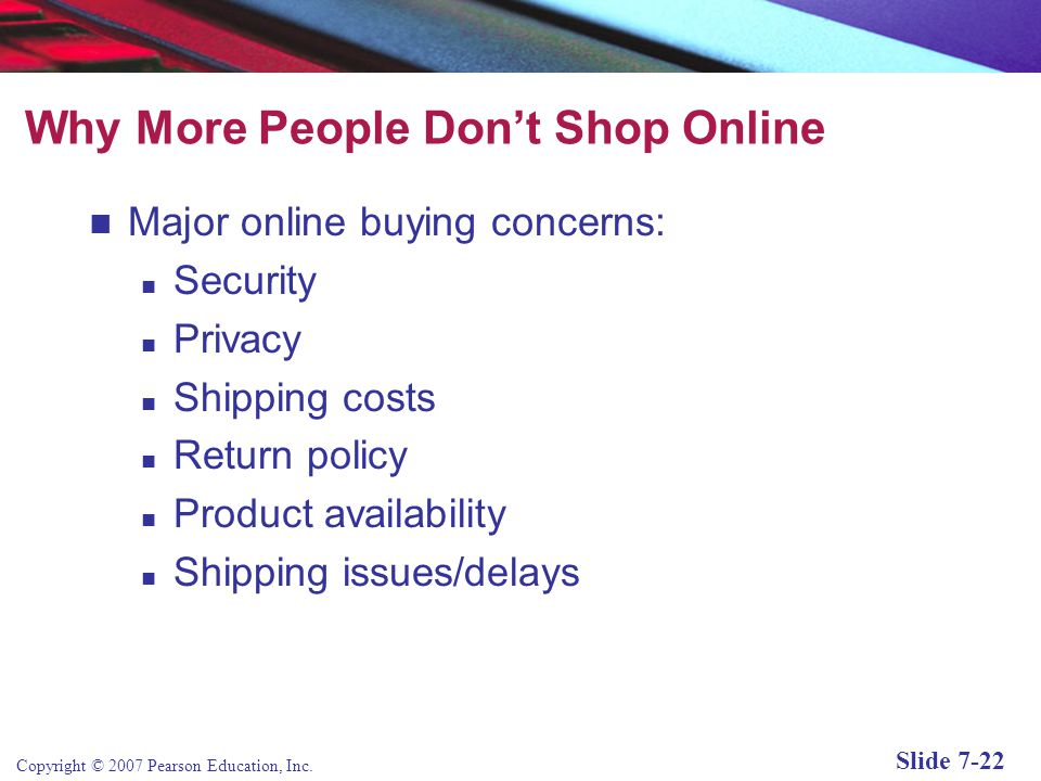 Why More People Don't Shop Online