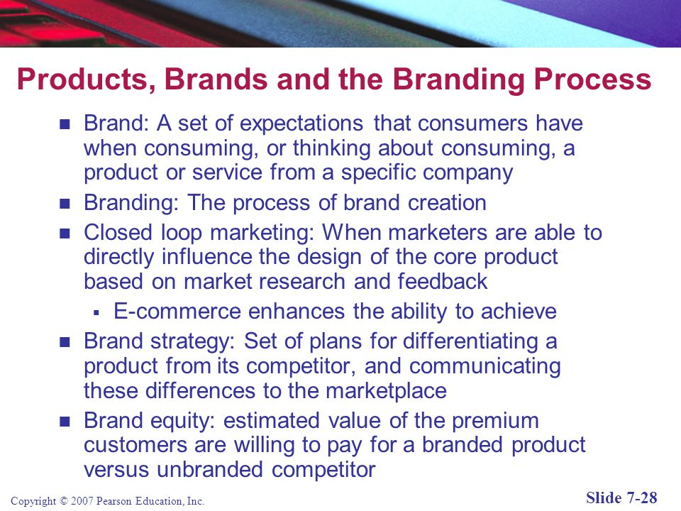 Products, Brands and the Branding Process