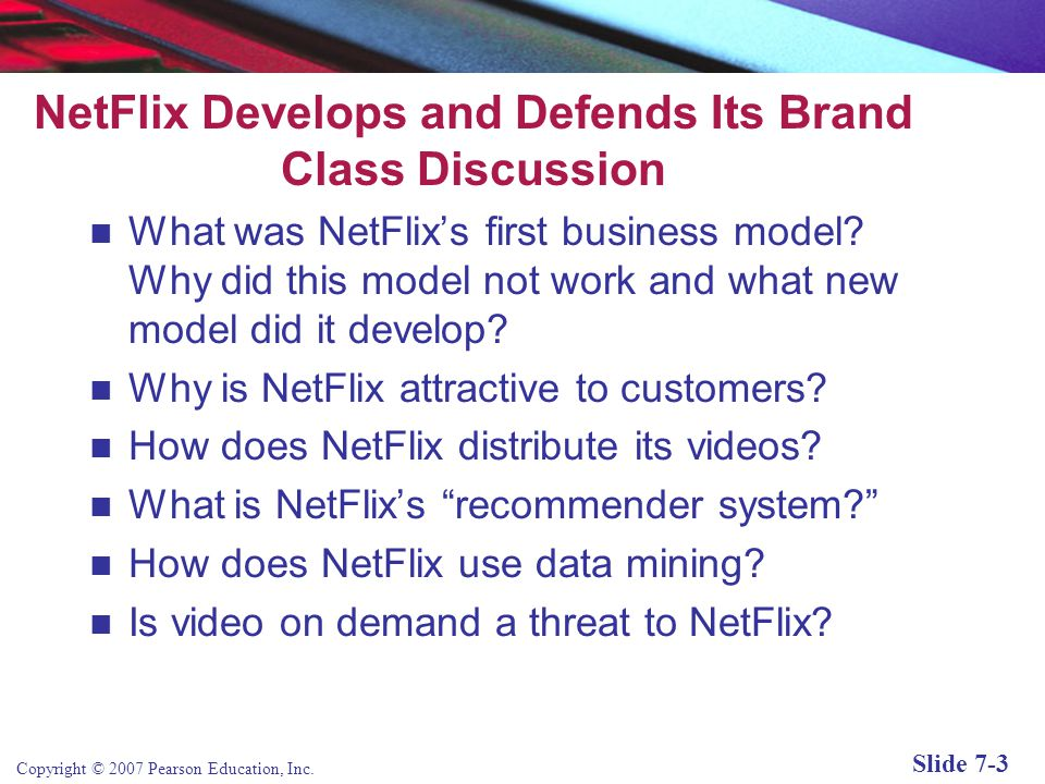 NetFlix Develops and Defends Its Brand Class Discussion