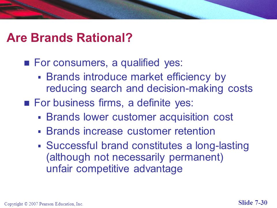 Are Brands Rational For consumers, a qualified yes: