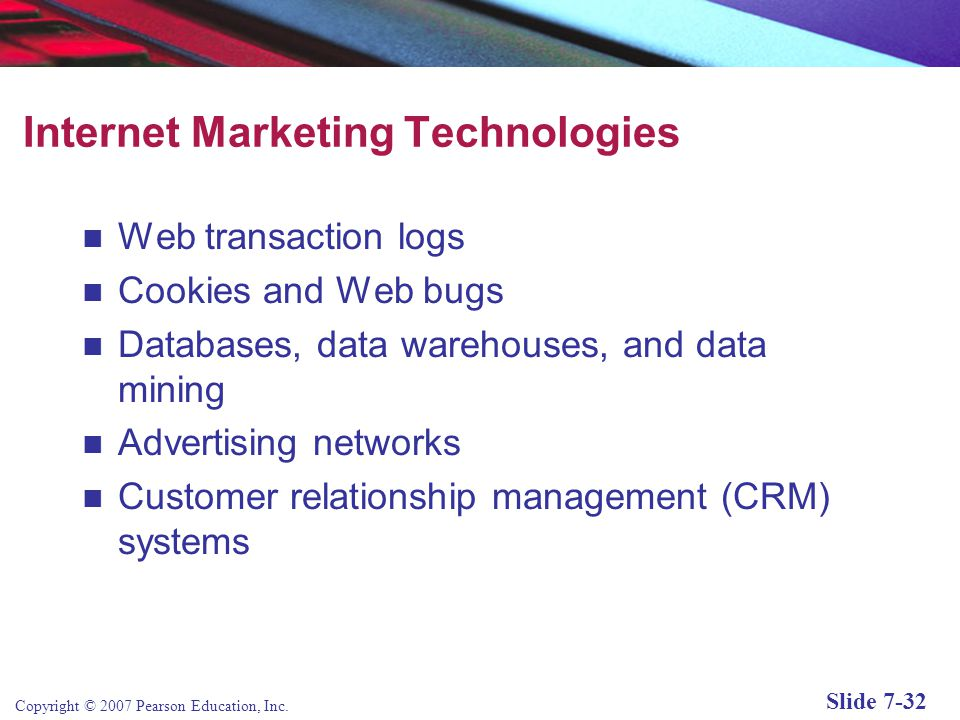 Internet Marketing Technologies