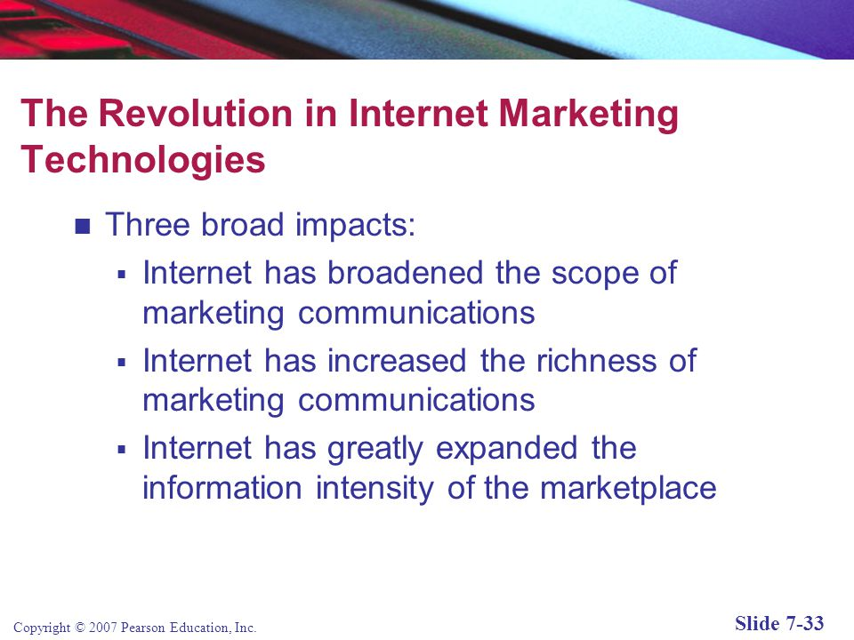 The Revolution in Internet Marketing Technologies