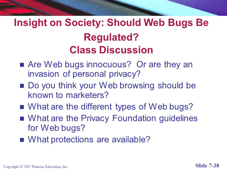 Insight on Society: Should Web Bugs Be Regulated Class Discussion