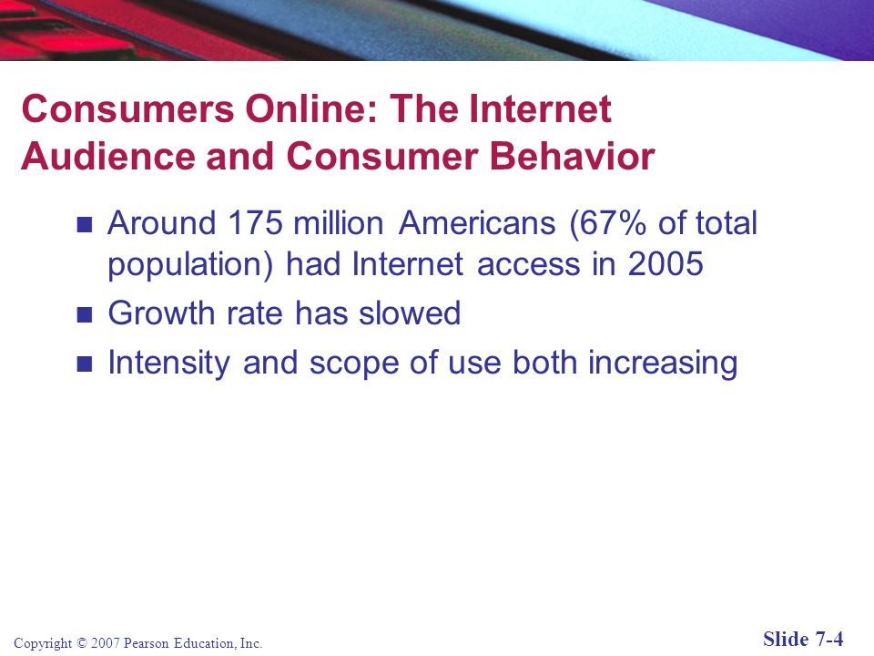Consumers Online: The Internet Audience and Consumer Behavior