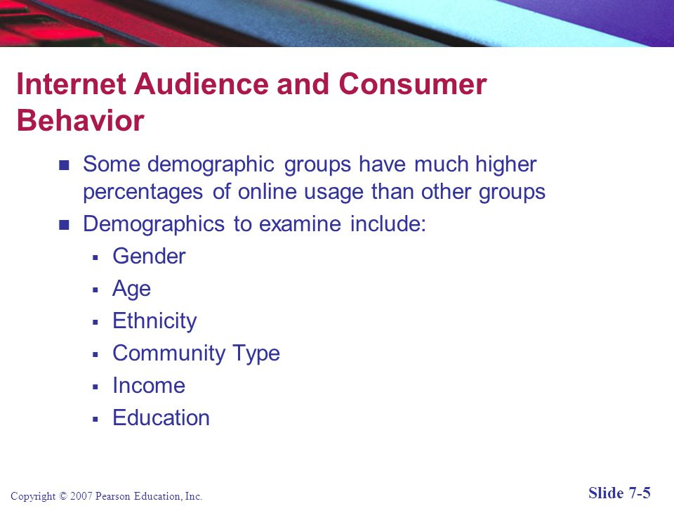 Internet Audience and Consumer Behavior