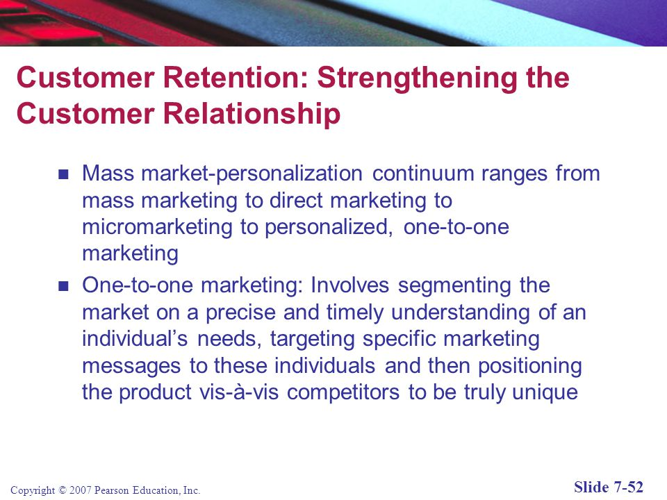Customer Retention: Strengthening the Customer Relationship