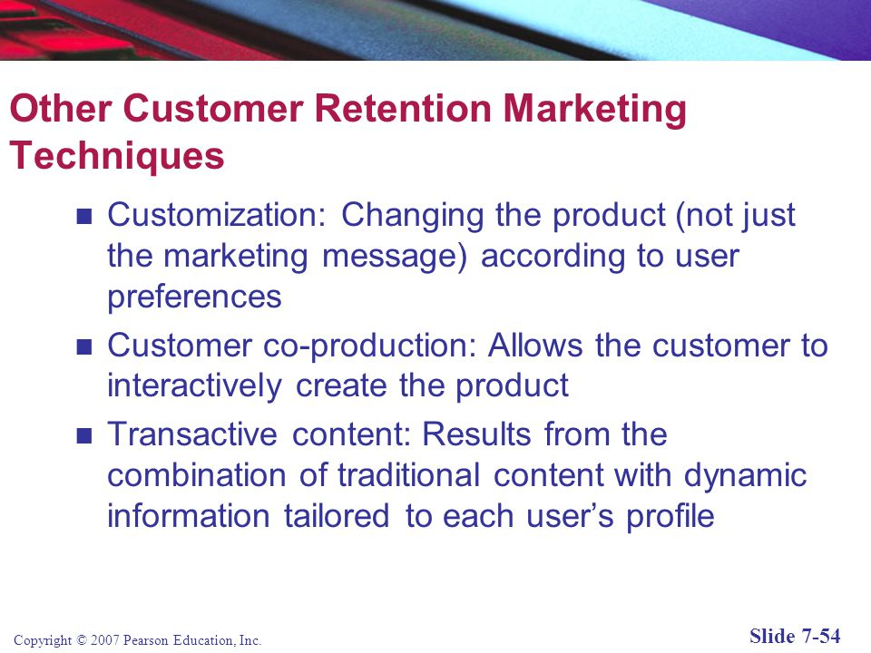 Other Customer Retention Marketing Techniques