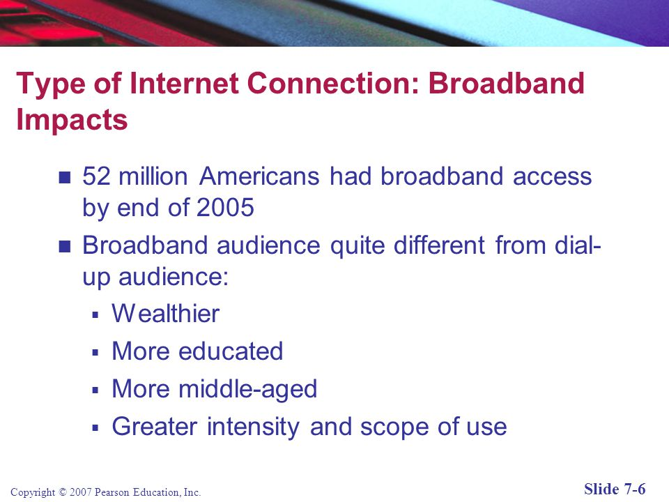 Type of Internet Connection: Broadband Impacts