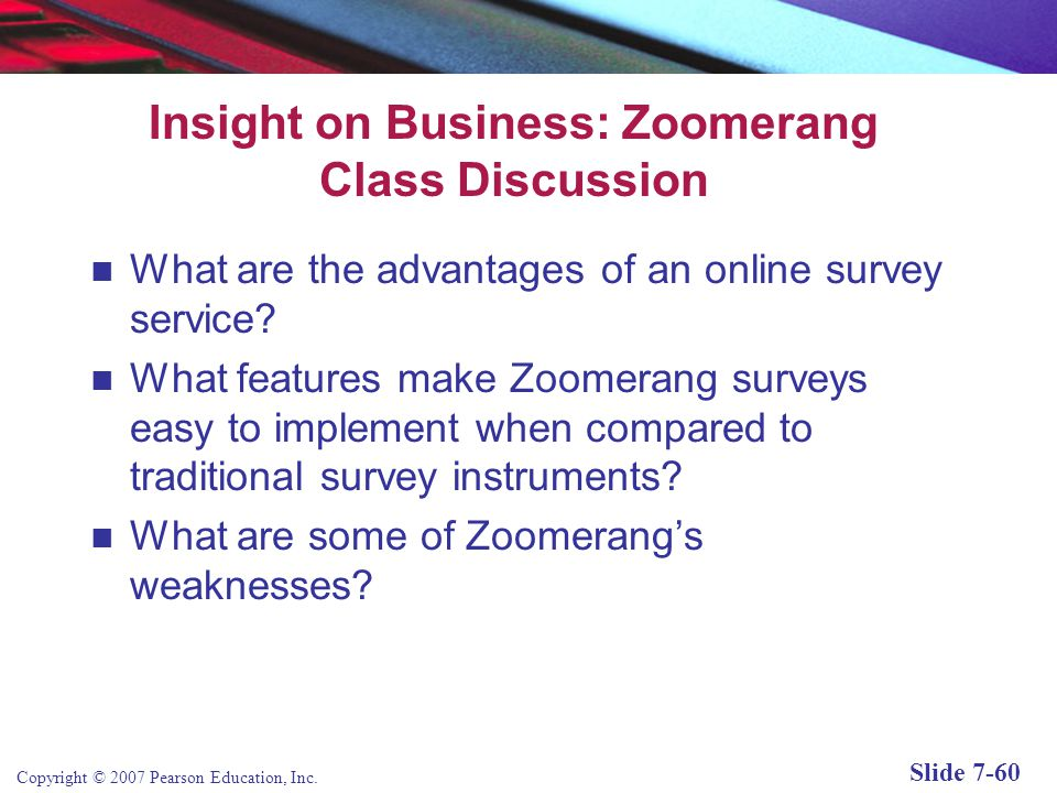 Insight on Business: Zoomerang Class Discussion