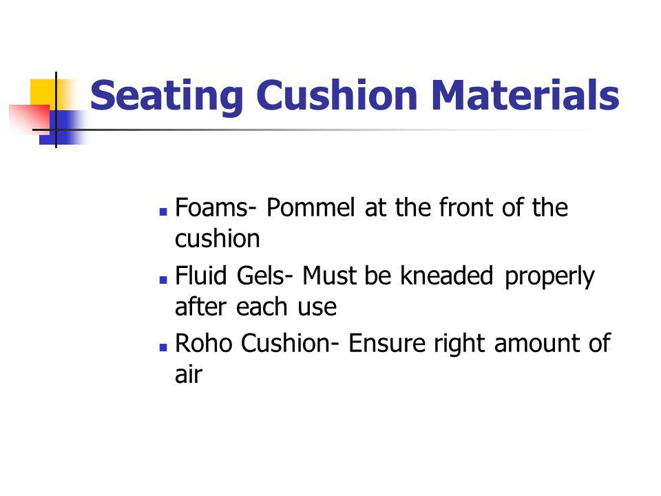 Seating Cushion Materials