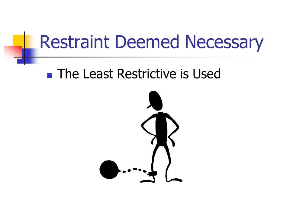 Restraint Deemed Necessary