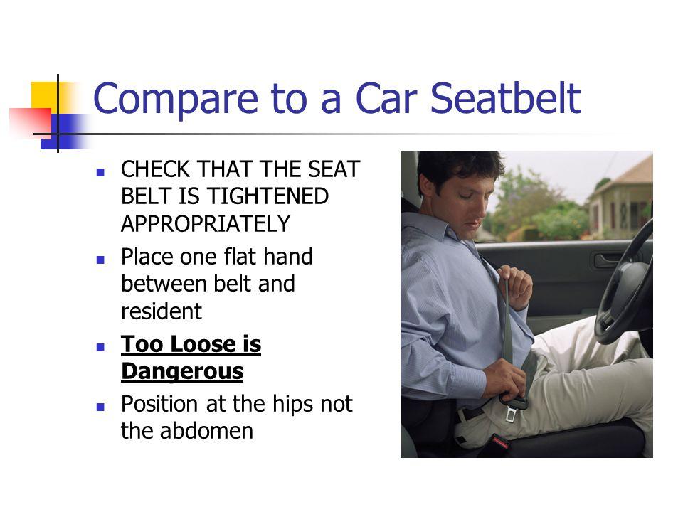 Compare to a Car Seatbelt