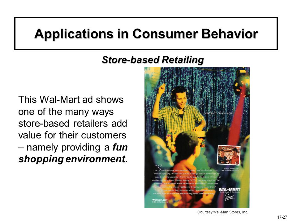 Applications in Consumer Behavior