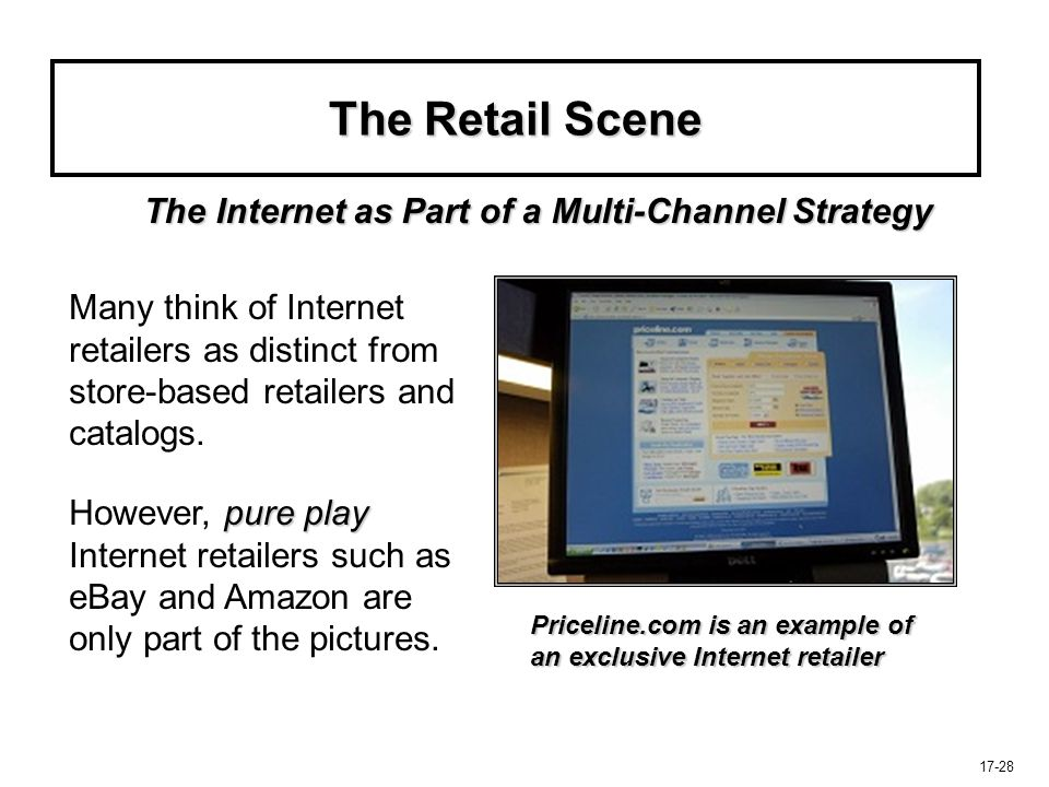 The Retail Scene The Internet as Part of a Multi-Channel Strategy