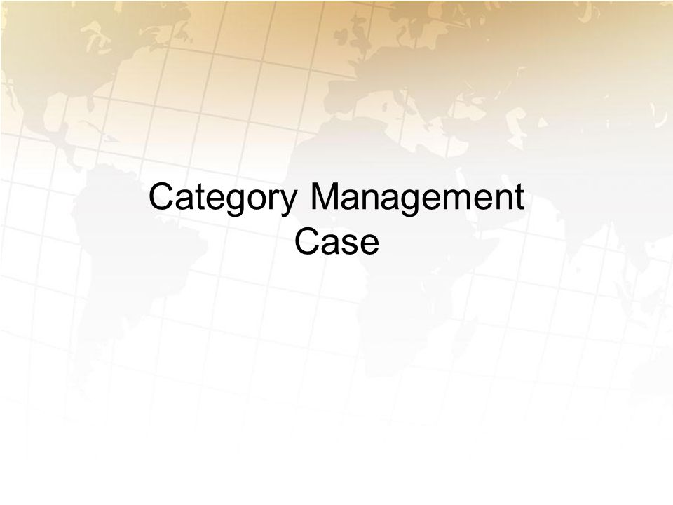 Category Management Case
