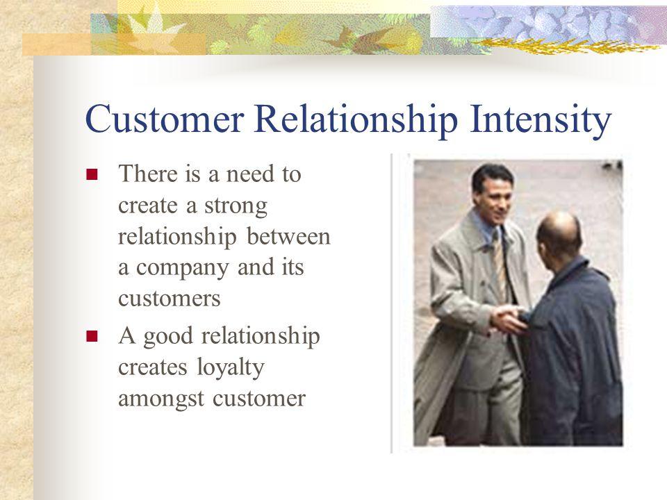 Customer Relationship Intensity