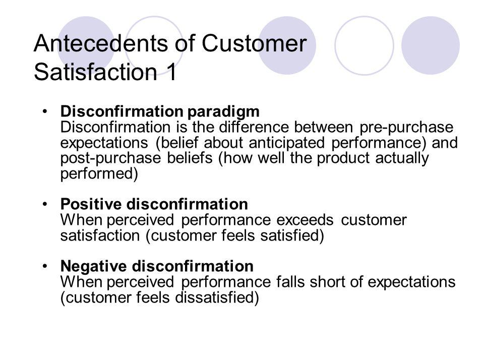 Antecedents of Customer Satisfaction 1