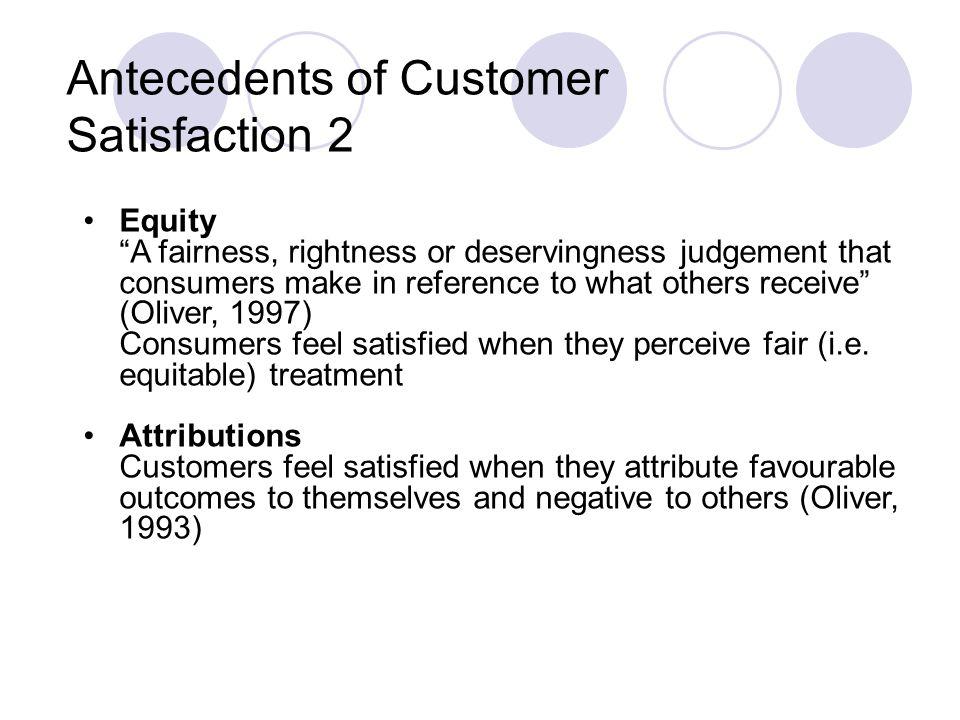 Antecedents of Customer Satisfaction 2