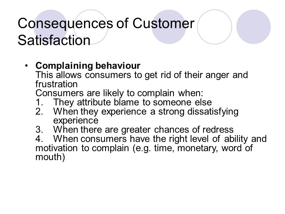 Consequences of Customer Satisfaction