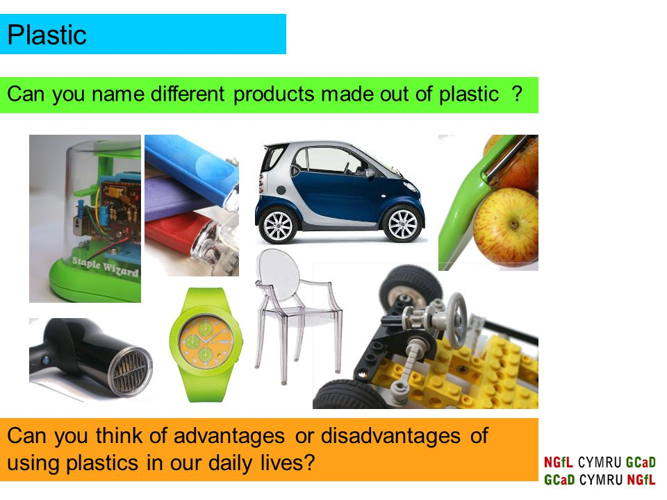 disadvantages of using plastic items Common products manufactured using waste materials include paper towels,  newspapers, steel cans, soft drink containers made of plastic glass and  aluminum.