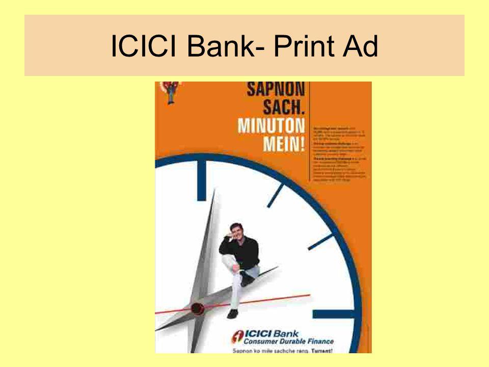 ICICI Bank- Print Ad
