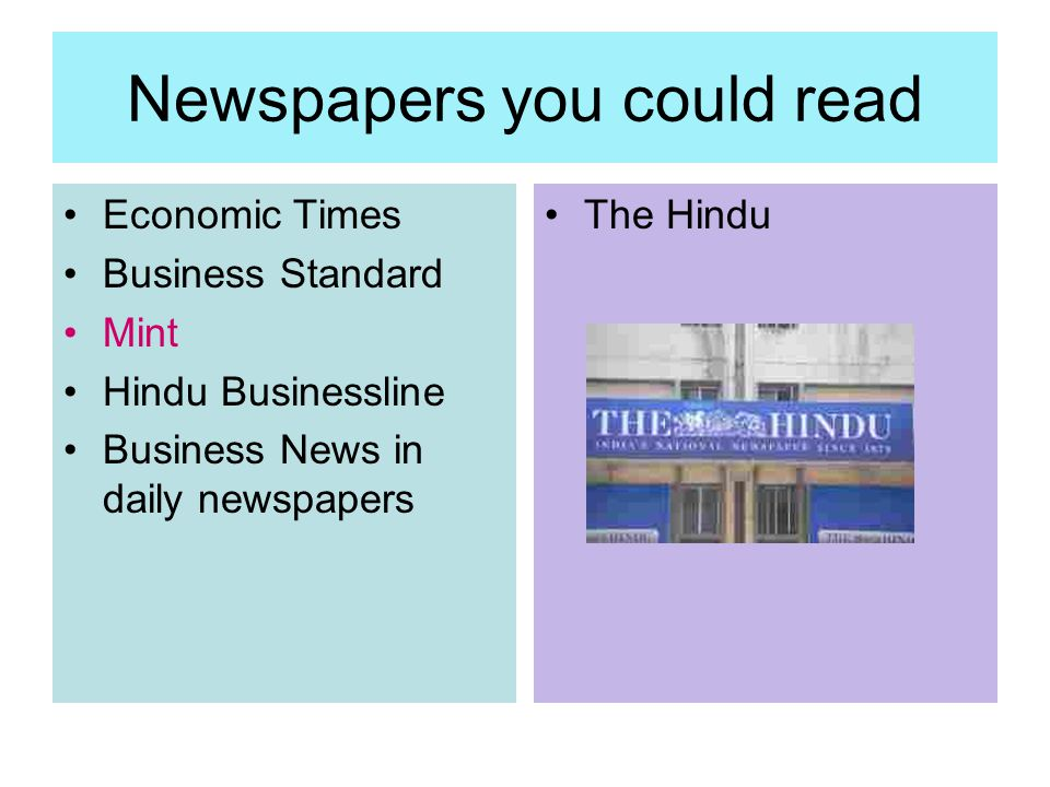 Newspapers you could read