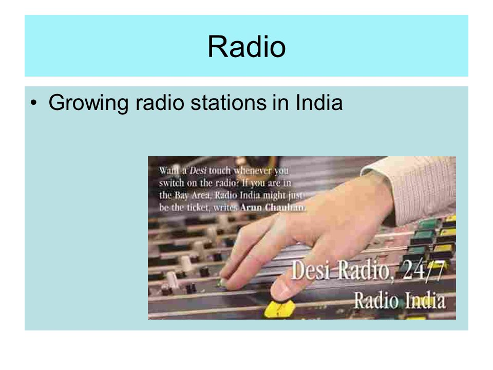 Radio Growing radio stations in India