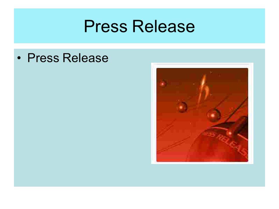 Press Release Press Release