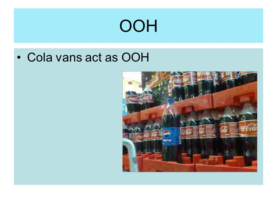 OOH Cola vans act as OOH