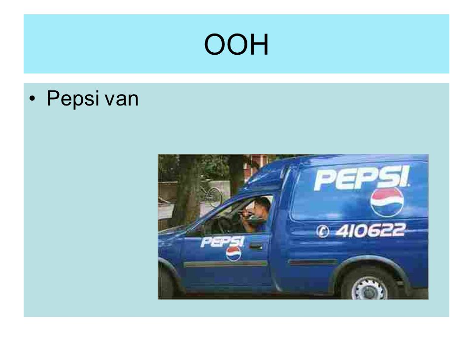 OOH Pepsi van