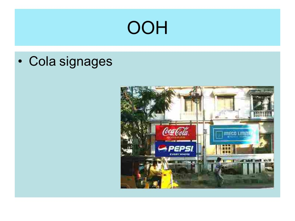 OOH Cola signages