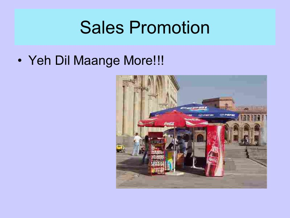 Sales Promotion Yeh Dil Maange More!!!