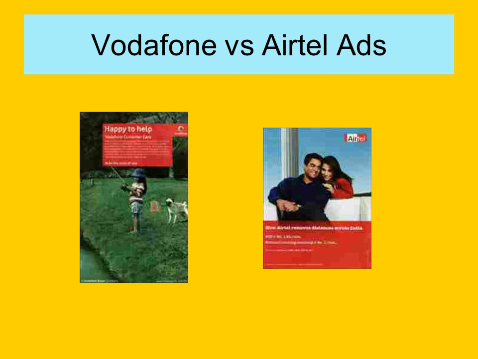 Vodafone vs Airtel Ads