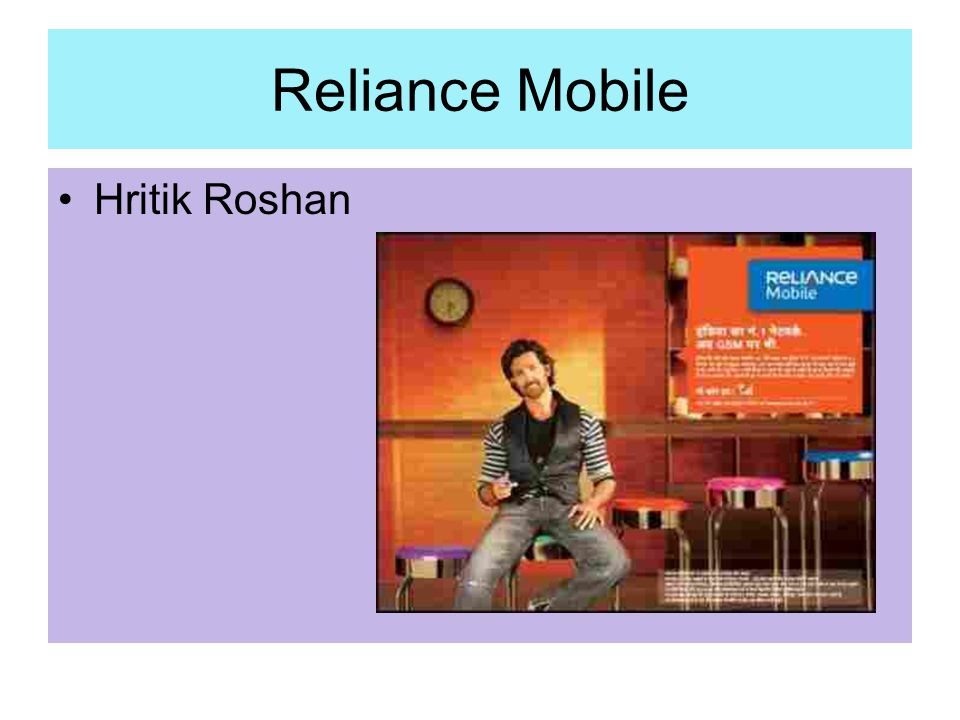 Reliance Mobile Hritik Roshan