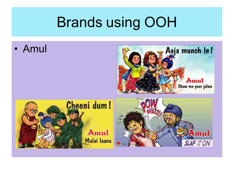 Brands using OOH Amul