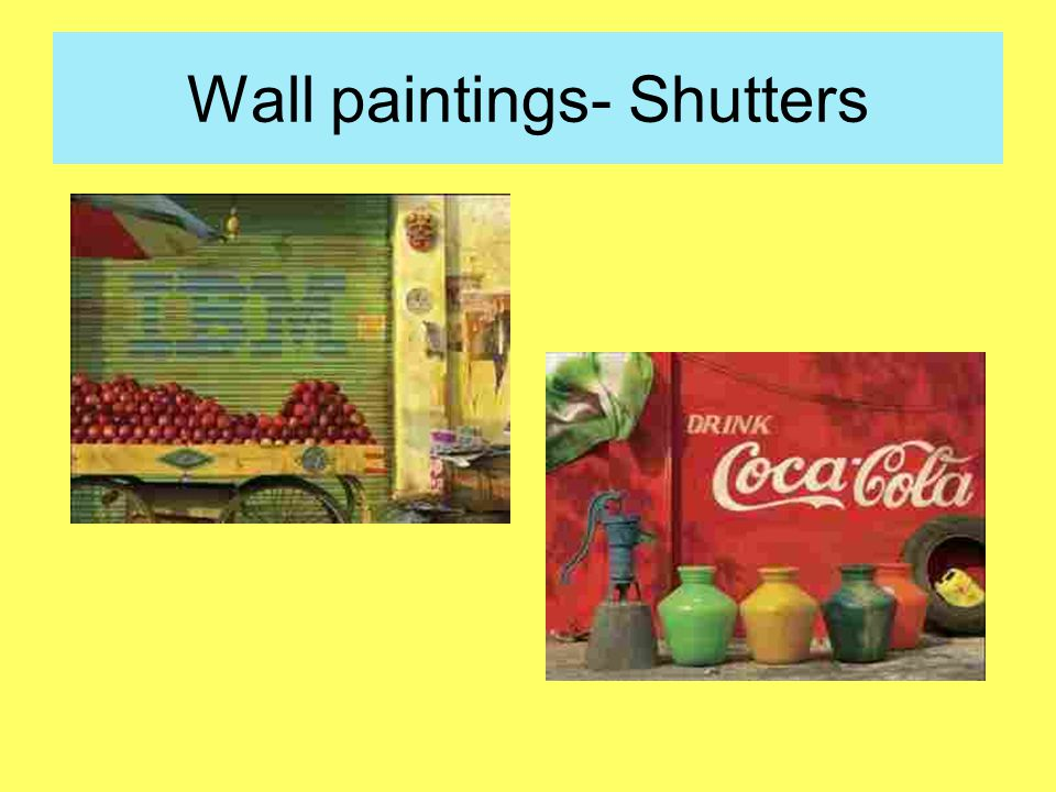 Wall paintings- Shutters