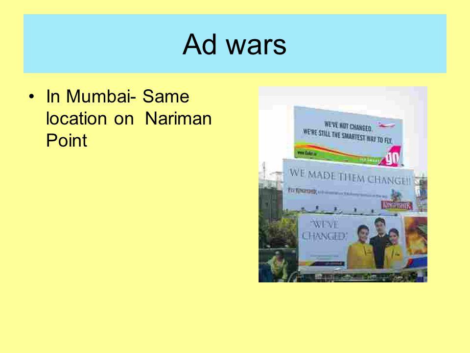 Ad wars In Mumbai- Same location on Nariman Point