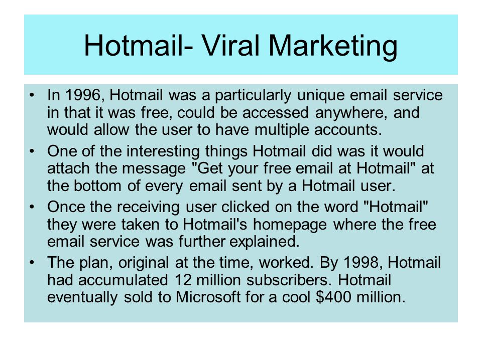 Hotmail- Viral Marketing