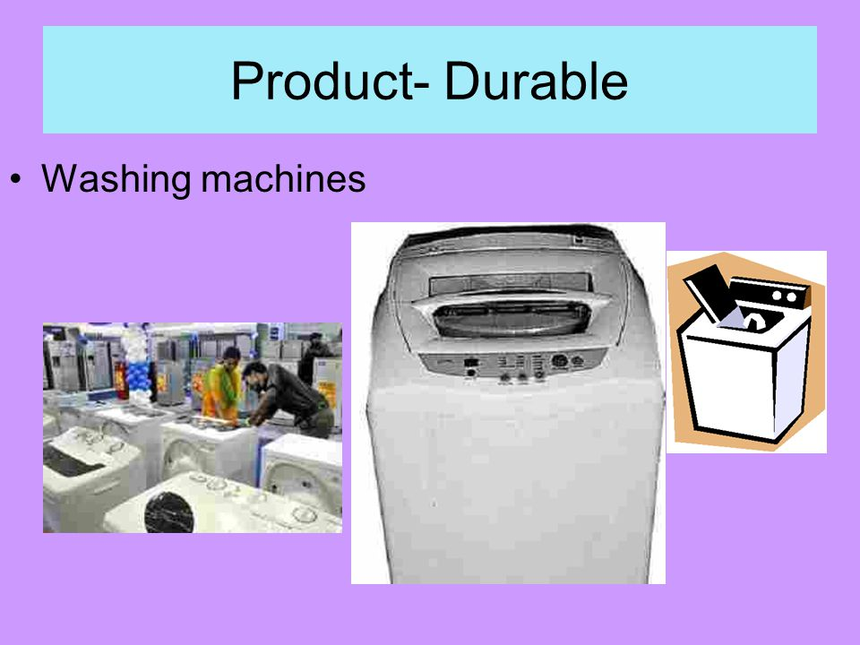 Product- Durable Washing machines