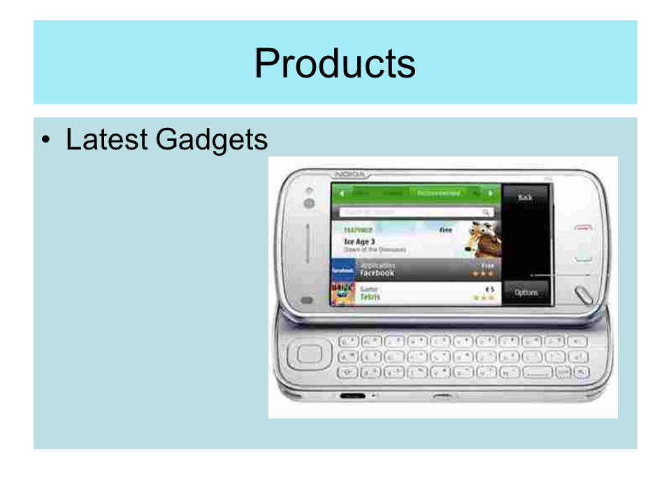 Products Latest Gadgets