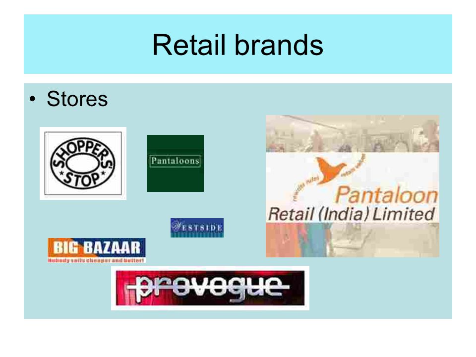 Retail brands Stores