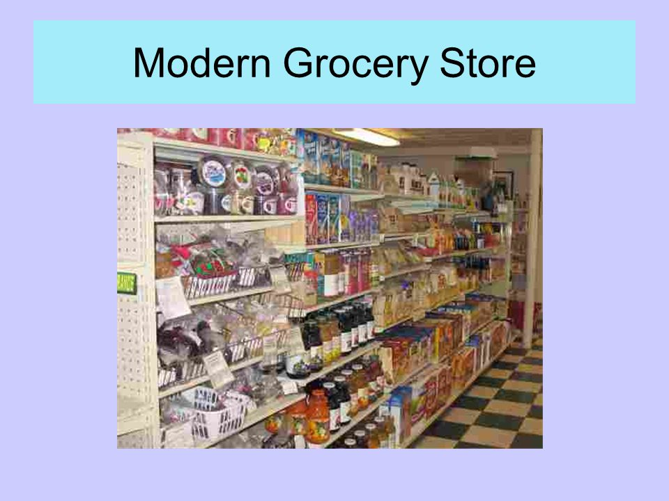 Modern Grocery Store