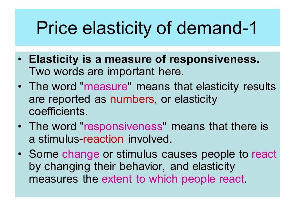 Price elasticity of demand-1