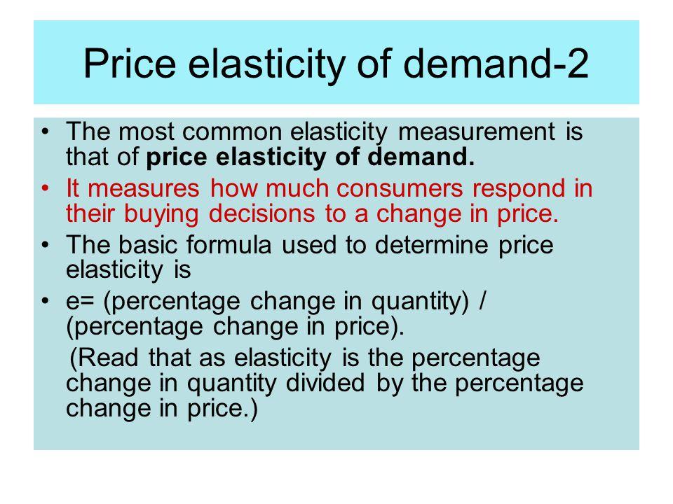 Price elasticity of demand-2