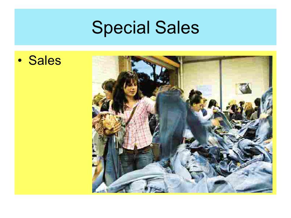 Special Sales Sales