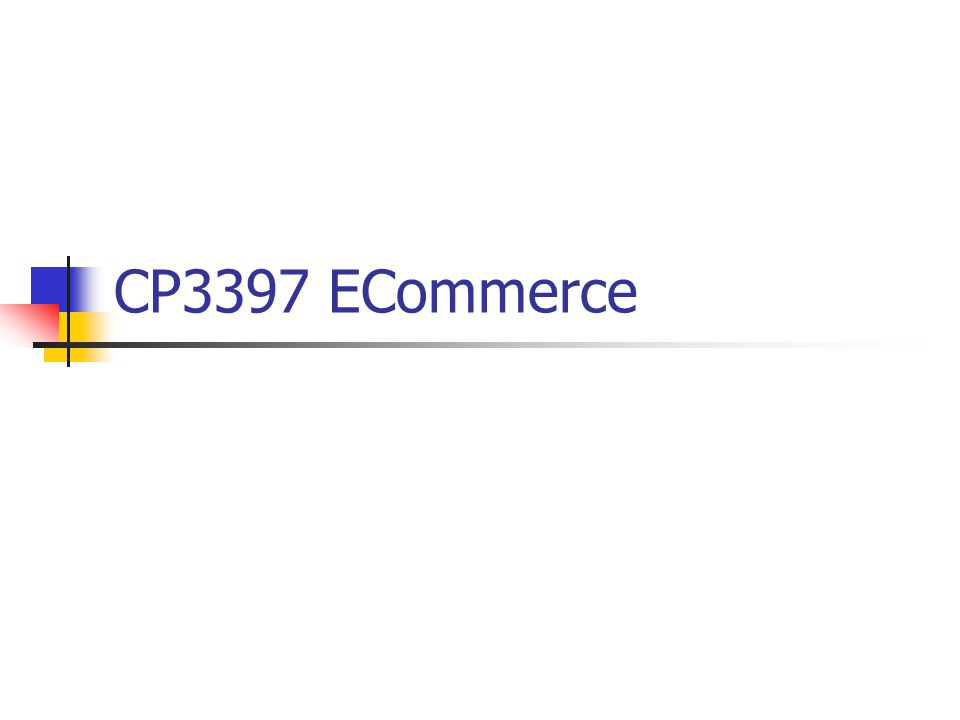 CP3397 ECommerce