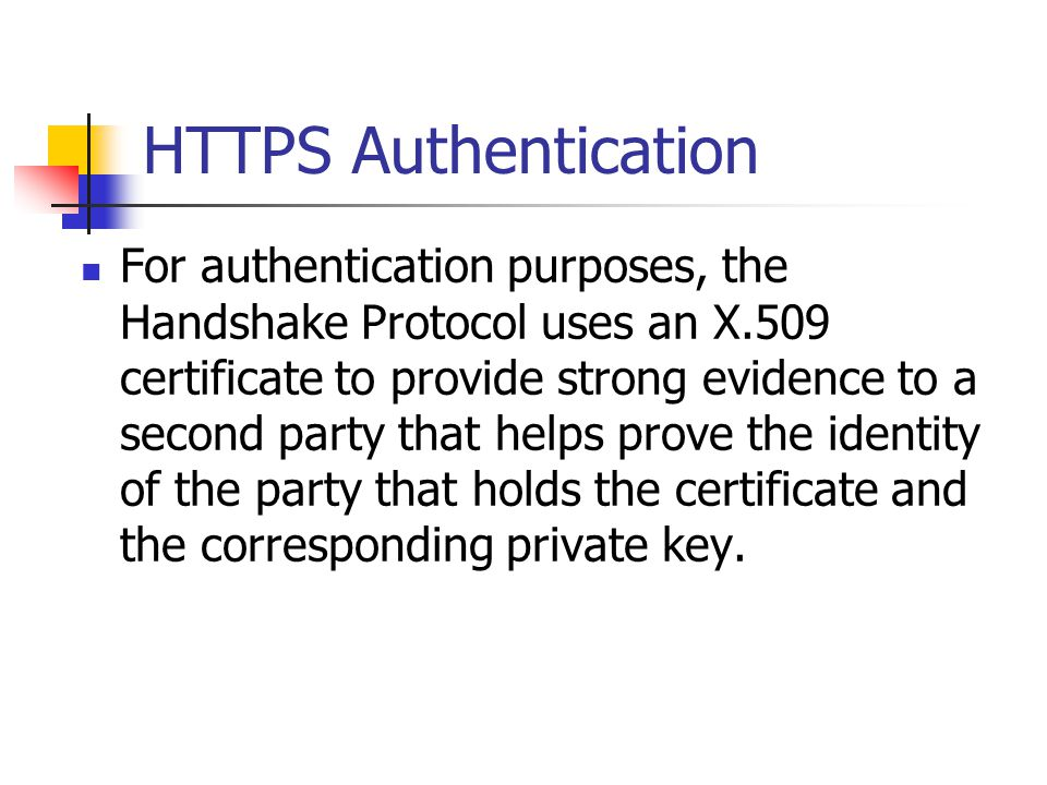 HTTPS Authentication