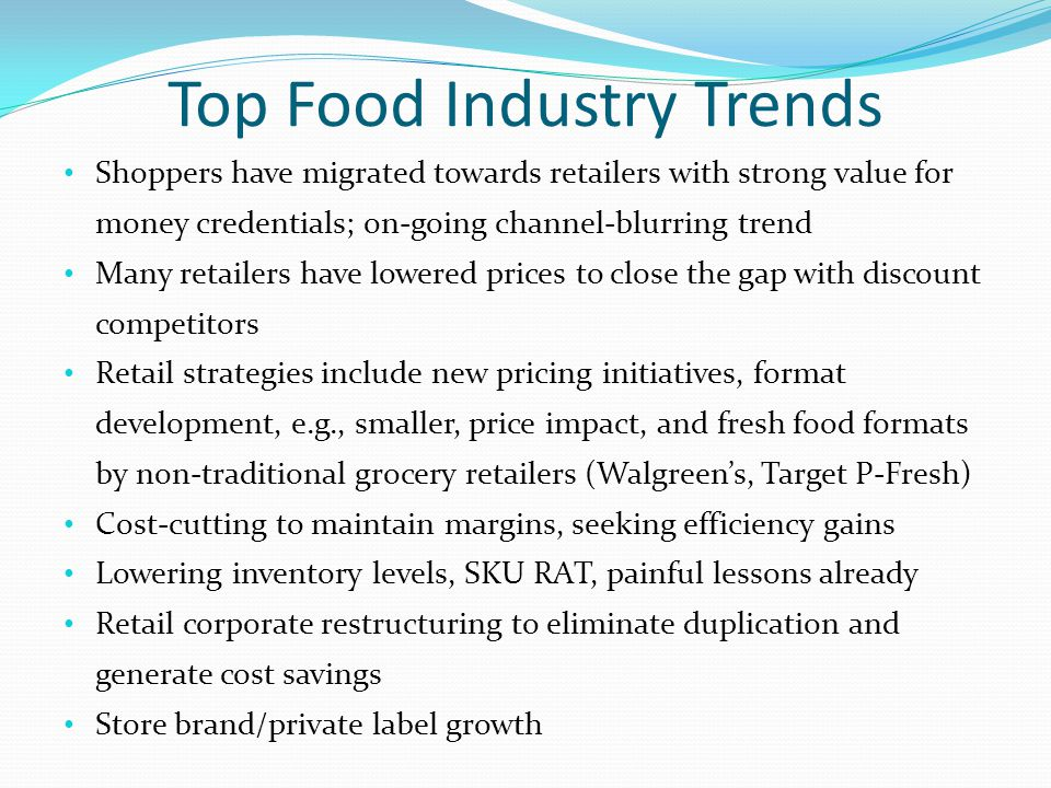 Top Food Industry Trends